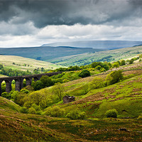 Buy canvas prints of Dent Head Viaduct - North Yorkshire Dales by David Lewins (LRPS)