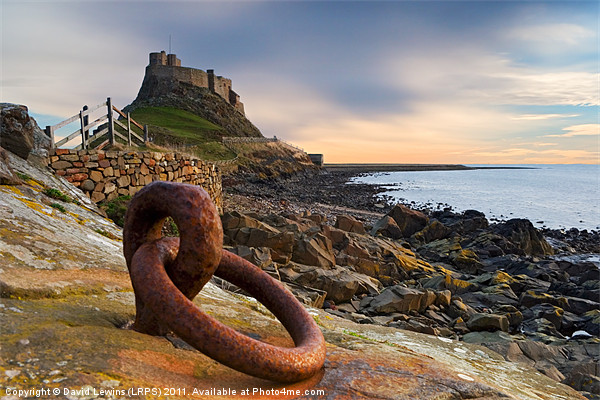 Lindisfarne Castle - Holy Island Canvas print by David Lewins (LRPS)