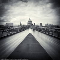 Buy canvas prints of Millennium Bridge, London by Dave Turner