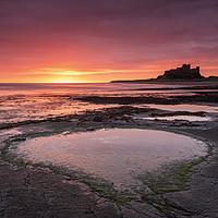 Buy canvas prints of Bamburgh at Dawn, Northumberland by Dave Turner