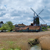 Buy canvas prints of Cley Windmill by Robert Geldard