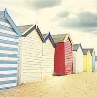 Buy canvas prints of Sunny southwold - Beach huts by Vicki Huckle