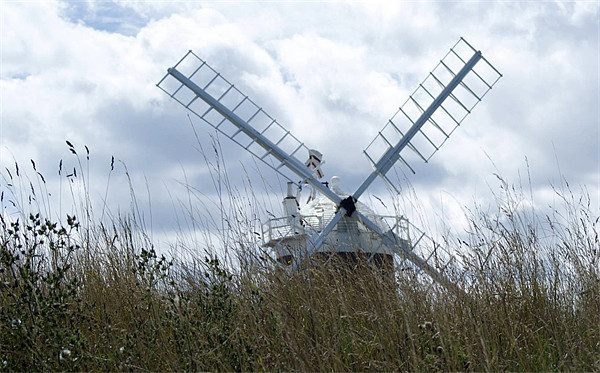 Cley Windmill Framed Mounted Print by Sheryl Brown