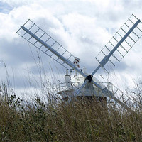 Buy canvas prints of Cley Windmill by Sheryl Brown