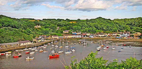 Fishguard Harbour By Day.Wales. Canvas print by paulette hurley