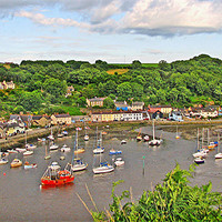Buy canvas prints of Fishguard Harbour By Day.Wales. by paulette hurley