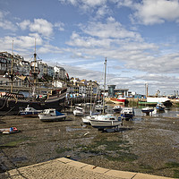 Buy canvas prints of Brixham Harbour by Gill Allcock