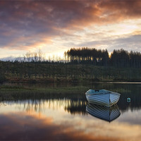 Buy canvas prints of Loch Rusky , Trossachs by David Mould