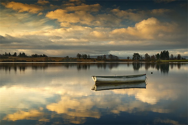 Loch Rusky summer sun... Canvas print by David Mould