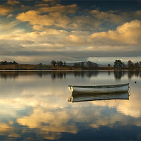 Buy canvas prints of Loch Rusky summer sun... by David Mould