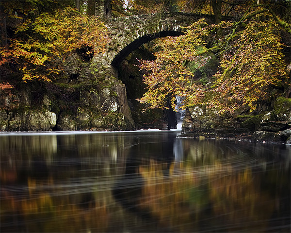 The Hermitage , Dunkeld, Perthshire, scotland Canvas print by David Mould