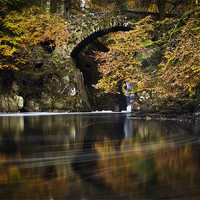 Buy canvas prints of The Hermitage , Dunkeld, Perthshire, scotland by David Mould