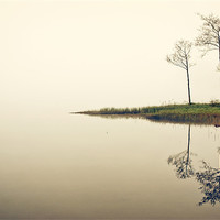 Buy canvas prints of Early mist, Loch Ard by David Mould