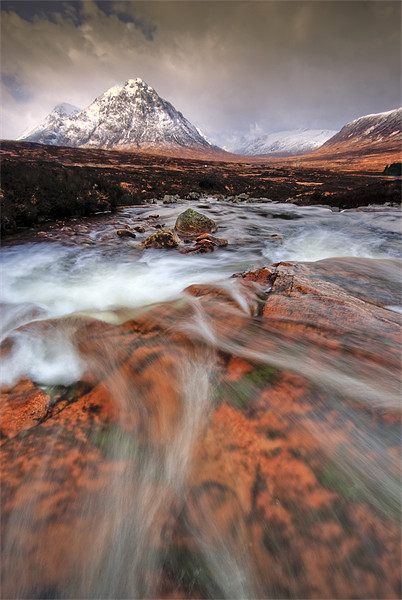 Towards the Buachaille... Canvas Print by David Mould