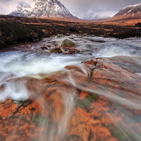 Buy canvas prints of Towards the Buachaille... by David Mould