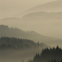 Buy canvas prints of Dukes Pass, Trossachs by David Mould