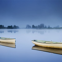Buy canvas prints of Blue Hour, Loch Rusky , Trossachs by David Mould