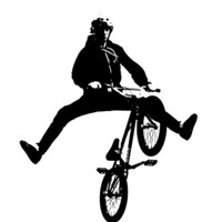 Buy canvas prints of BMX Print by Donna Collett