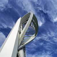 Buy canvas prints of Spinnaker Tower - Side View by Donna Collett