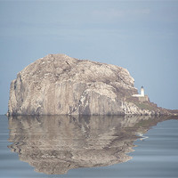 Buy canvas prints of The Bass Rock by Ian Jeffrey