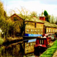 Buy canvas prints of By The Canal  by Ian Jeffrey