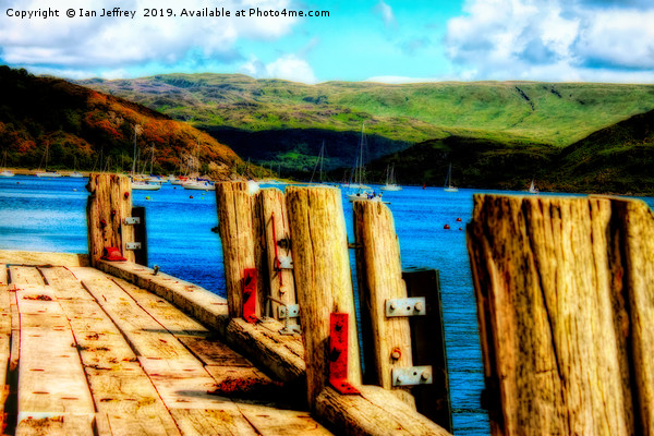 Tighnabruaich Pier Canvas Print by Ian Jeffrey