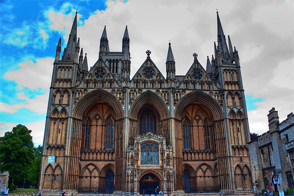 Peterborough Cathedral Canvas print by Ian Jeffrey
