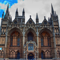 Buy canvas prints of Peterborough Cathedral by Ian Jeffrey