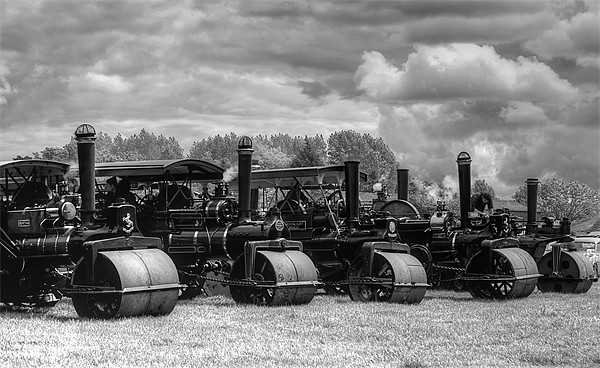 Steam Rollers Canvas print by Ian Jeffrey