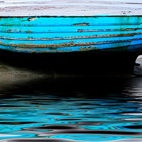 Buy canvas prints of Blue Boat at Beadnell Beach by Ian Jeffrey