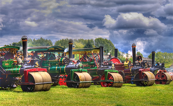 Steam Road Rollers Canvas print by Ian Jeffrey