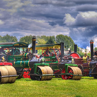 Buy canvas prints of Steam Road Rollers by Ian Jeffrey