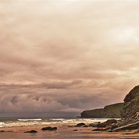 Buy canvas prints of Watergate Bay, Cornwall by Dawn Cox
