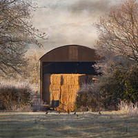 Buy canvas prints of The old Hay Barn by Dawn Cox