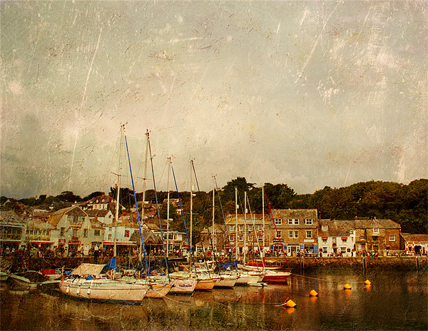 Padstow Harbour Canvas print by Dawn Cox