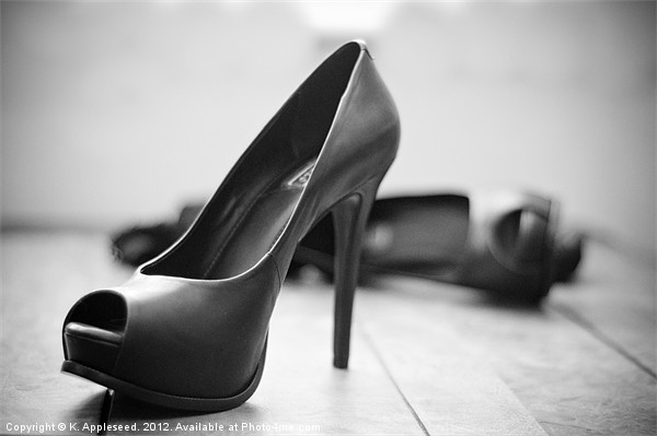 Stiletto heels for my lover.. Canvas Print by K. Appleseed.