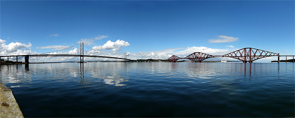 Forth road and rail bridges Canvas print by Tony Bates