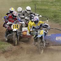 Buy canvas prints of Sidecar motorcycle scramble by Tony Bates