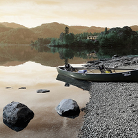 Buy canvas prints of  Derwent water Cumbria by Tony Bates