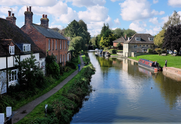 Hungerford and Kennet Print by Tony Bates