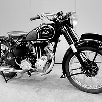 Buy canvas prints of AJS Vintage Motorcycle by Tony Bates