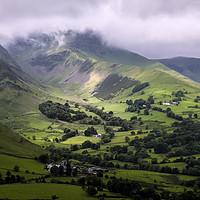 Buy canvas prints of Newlands Pass Cumbria by Tony Bates
