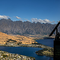 Buy canvas prints of Skyline restaurant Queenstown New Zealand south is by Tony Bates