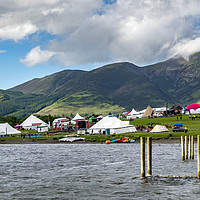 Buy canvas prints of Derwent water Mountain festival by Tony Bates