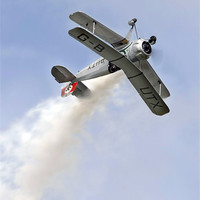 Buy canvas prints of Bucker Jungmeister at Abingdon airshow by Tony Bates