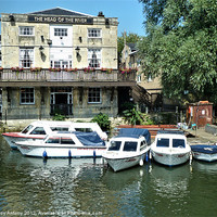 Buy canvas prints of Head of The River, Oxford by Lucy Antony