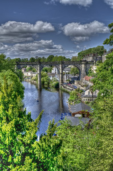Knaresborough Canvas print by Allan Briggs