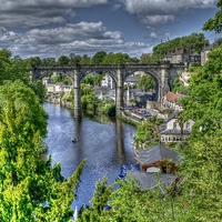Buy canvas prints of Knaresborough by Allan Briggs