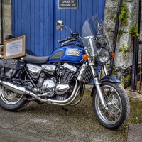 Buy canvas prints of  Motor Bike For Sale by Allan Briggs