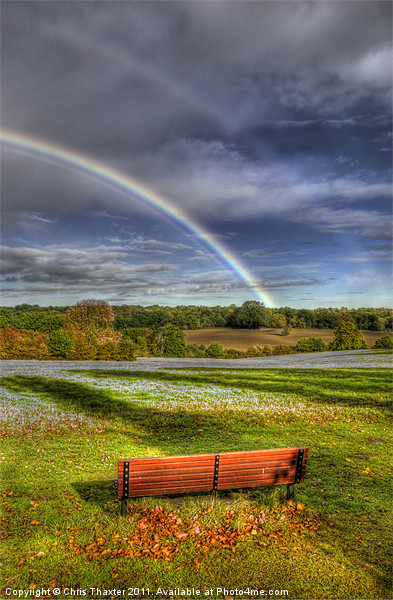 Rainbow View Canvas print by Chris Thaxter
